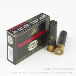 "5 Rounds of 12ga 3-1/2"" Ammo by Winchester Double-X - 00 Buck"