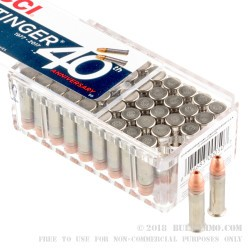 50 Rounds of .22 LR Stinger Ammo by CCI - 32 gr CPHP