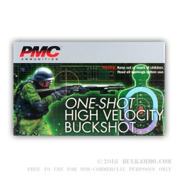 5 Rounds of 12ga Ammo by PMC - HV LE #4 Buck