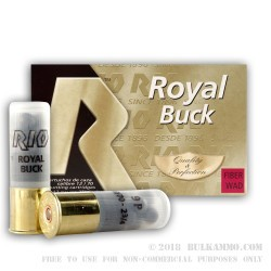 250 Rounds of 12ga Ammo by Rio Ammunition -  00 Buck 9 Pellet - Fiber Wad