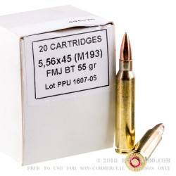 1000 Rounds of 5.56x45 Ammo by Prvi Partizan - 55gr FMJ