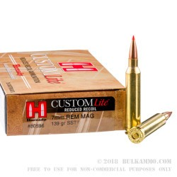 20 Rounds of 7mm Rem Mag Ammo by Hornady - 139gr SST