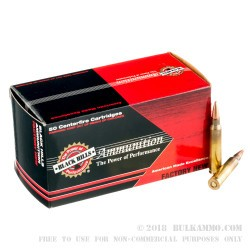 50 Rounds of 5.56x45 Ammo by Black Hills Ammunition - 62gr Barnes TSX