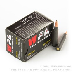 20 Rounds of .223 Ammo by Wolf - 62gr JHP