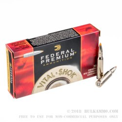 20 Rounds of .308 Win Ammo by Federal - 165gr Trophy Bonded Tip