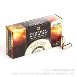 1000 Rounds of .45 ACP Ammo by Federal Hydra-Shok - 230gr JHP