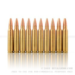 20 Rounds of .223 Ammo by PMC - 52gr HPBT
