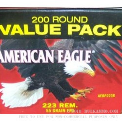 400 Rounds of .223 Ammo by Federal American Eagle  - 55gr FMJ