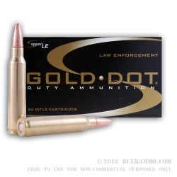 20 Rounds of .223 Ammo by Speer Gold Dot - 64gr SP