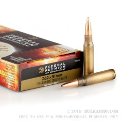 200 Rounds of .308 Win Ammo by Federal Premium Tactical Tru - 125gr OTM