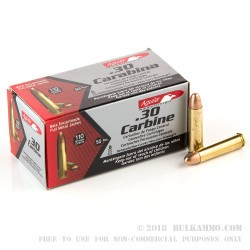 1000 Rounds of .30 Carbine Ammo by Aguila - 110gr FMJ