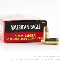 50 Rounds of 9mm Ammo by Federal - 147gr FMJ