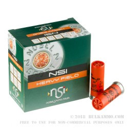 250 Rounds of 12ga Ammo by NobelSport - 1 1/4 ounce #7 1/2 - Lead Shot