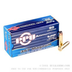 500  Rounds of .357 Mag Ammo by Prvi Partizan - 158gr SJHP