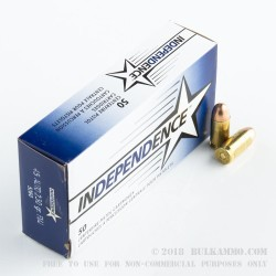 1000 Rounds of .45 ACP Ammo by Independence - 230gr FMJ