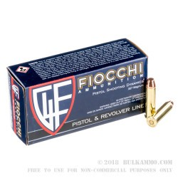 1000 Rounds of .357 Mag Ammo by Fiocchi - 158gr TMJ