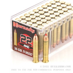 50 Rounds of .22 WMR Ammo by Hornady - 30gr V-MAX