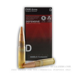 400 Rounds of .300 AAC Blackout Ammo by PNW Arms - 220gr HPBT