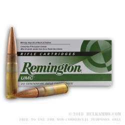 200 Rounds of .300 AAC Blackout Ammo by Remington - 115gr CTFB