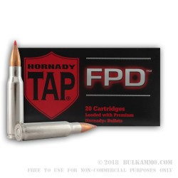 20 Rounds of .308 Win Ammo by Hornady - 110gr TAP FPD