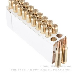 20 Rounds of 6.8 SPC Ammo by Corbon Performance Match - 115gr HPBT