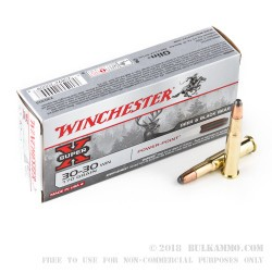 200 Rounds of 30-30 Win Ammo by Winchester - 170gr PP