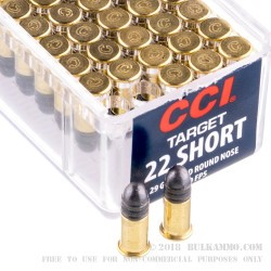 100 Rounds of .22 Short Ammo by CCI - 29gr LRN