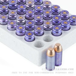 500 Rounds of .40 S&W Ammo by Winchester - 180gr FMJ Purple Tinted Cases