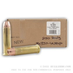 250 Rounds of .357 Mag Ammo by BVAC - New - 158gr CPHP