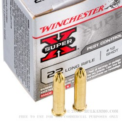 50 Rounds of .22 LR Ammo by Winchester -  #12 shot