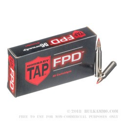 200 Rounds of .223 Ammo by Hornady - 55gr TAP FPD