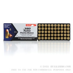1000 Rounds of .380 ACP Ammo by Aguila - 90gr JHP