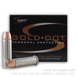 20 Rounds of .38 Spl +P Ammo by Speer - 125gr JHP