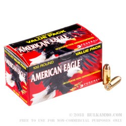 100 Rounds of .40 S&W Ammo by Federal - 180gr FMJ