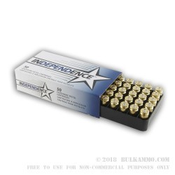50 Rounds of .40 S&W Ammo by Independence - 165gr FMJ