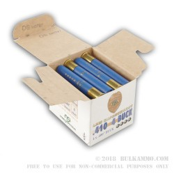 "25 Rounds of .410 Ammo by NobelSport -  .4"" Buck"