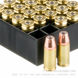 250 Rounds of 9mm Luger Ammo by Hornady XTP - 147gr JHP