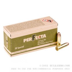 1000 Rounds of .38 Spl Ammo by Fiocchi Perfecta - 158 gr FMJ