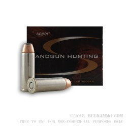 20 Rounds of .44 Mag Ammo by Speer Gold Dot Hunting - 270gr JSP