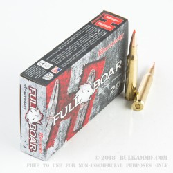 20 Rounds of .270 Win Ammo by Hornady Full Boar - 130gr GMX