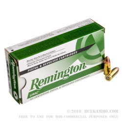 50 Rounds of 9mm Ammo by Remington - 124gr MC