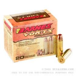 200 Rounds of .44 Mag Ammo by Barnes - 225gr XPB HP