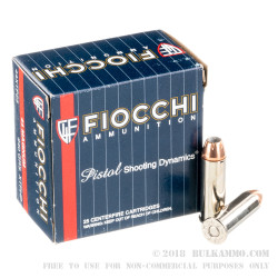 25 Rounds of .44 Mag Ammo by Fiocchi - 240gr XTP JHP