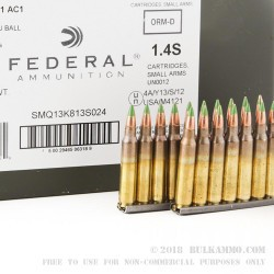 420 Rounds of XM855 5.56x45 Ammo by Federal - 62gr FMJ on Stripper Clips in Cans