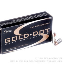 50 Rounds of .40 S&W Ammo by Speer Gold Dot- 180gr JHP