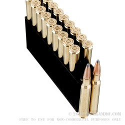 20 Rounds of 30-06 Springfield Ammo by Hornady - 165gr SPBT