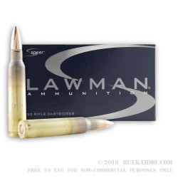 20 Rounds of 5.56x45 Ammo by Speer Lawman - 55gr FMJ