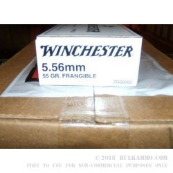 20 Rounds of 5.56x45mm Ammo by Winchester - 55gr Frangible