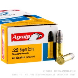 500  Rounds of .22 LR Ammo by Aguila - 40gr LRN