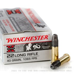 3000 Rounds of .22 LR Ammo by Winchester - 40gr TC- HP